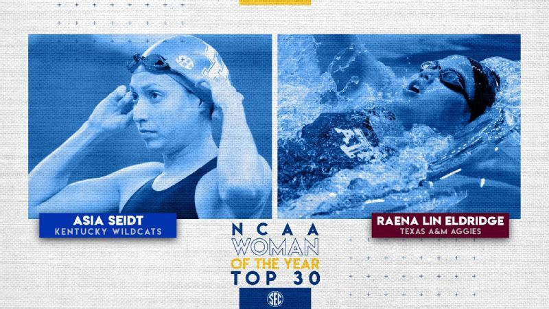 Two from SEC among honorees for NCAA Woman of the Year