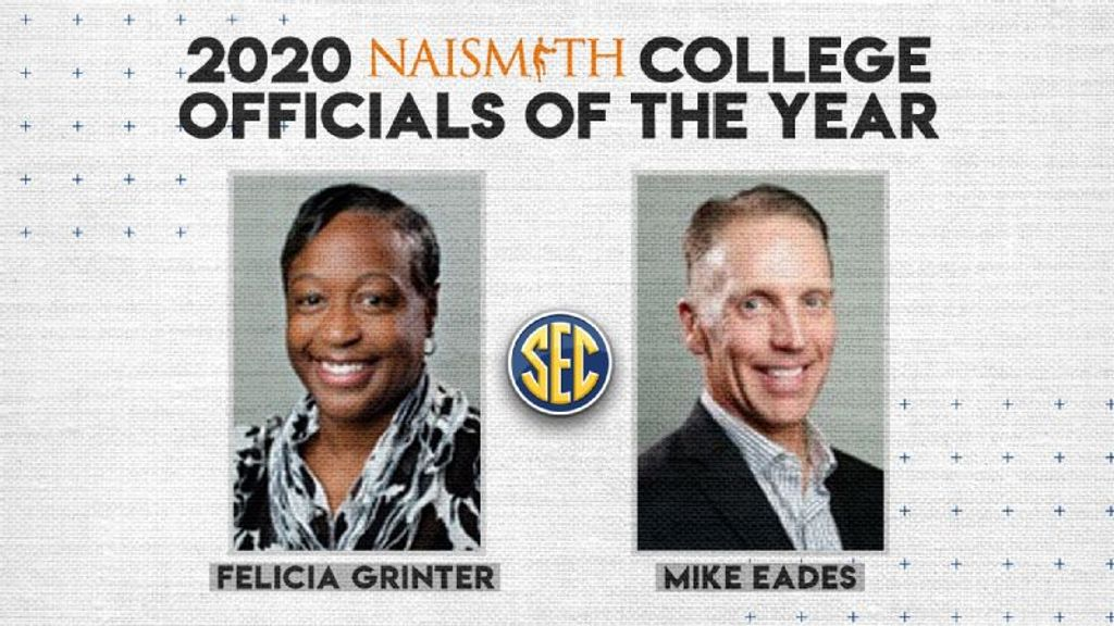 Grinter, Eades named Naismith Officials of the Year