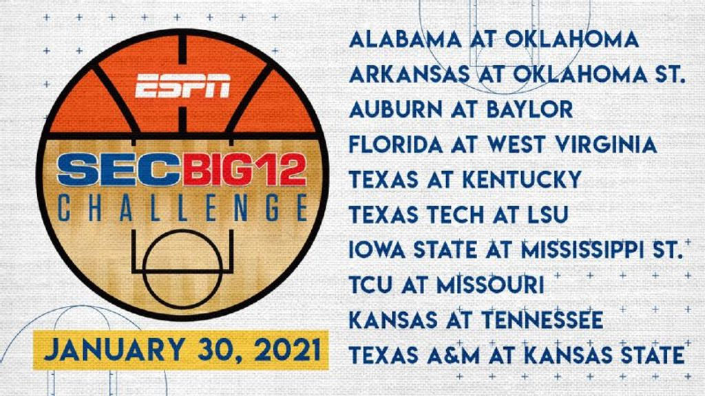 2021 SEC/Big 12 Challenge matchups set