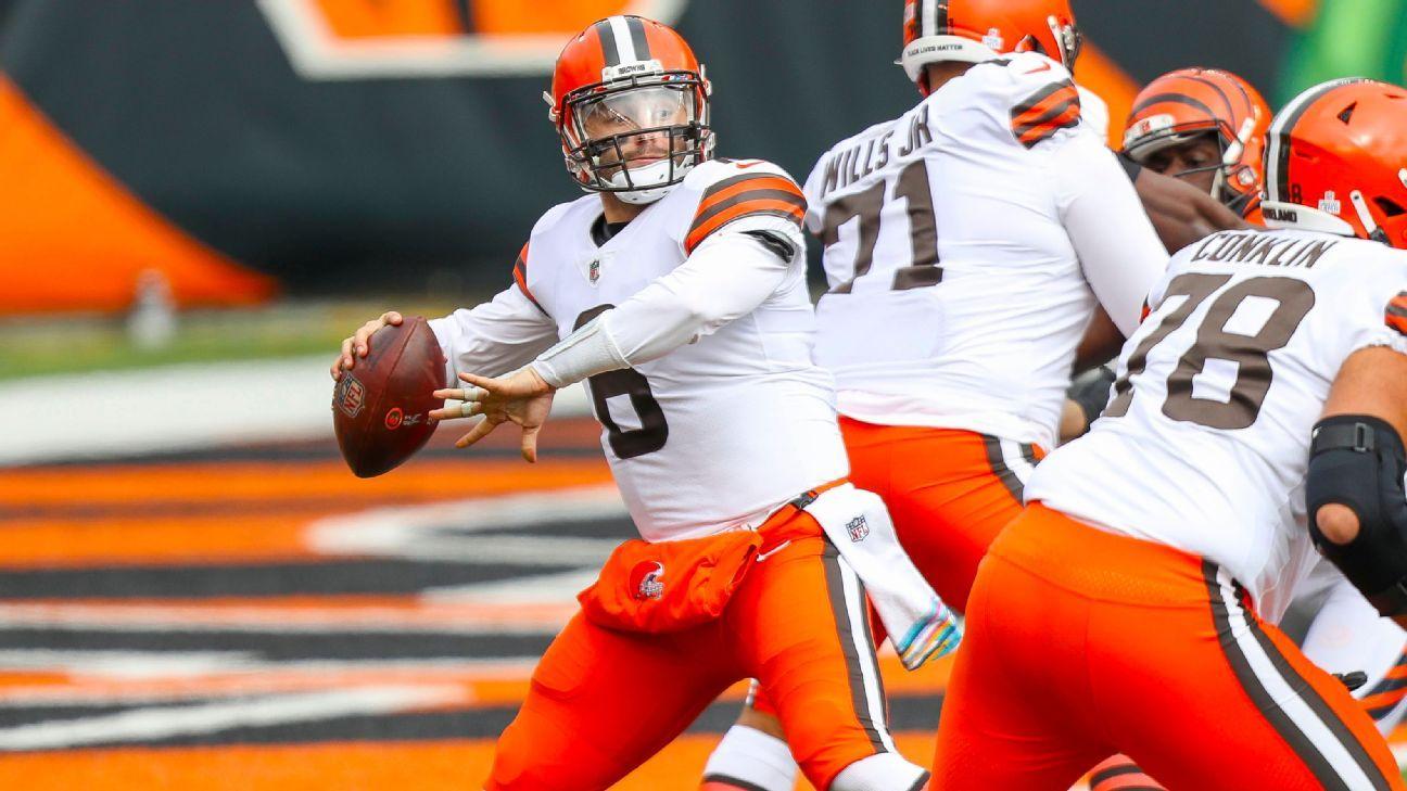 NFL Week 7 takeaways, stat leaders – Big days for Baker Mayfield, Aaron Rodgers –