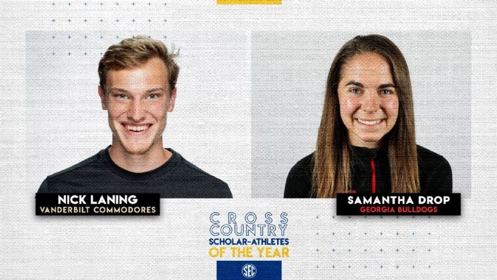 Laning, Drop Named SEC XC Scholar-Athletes of the Year