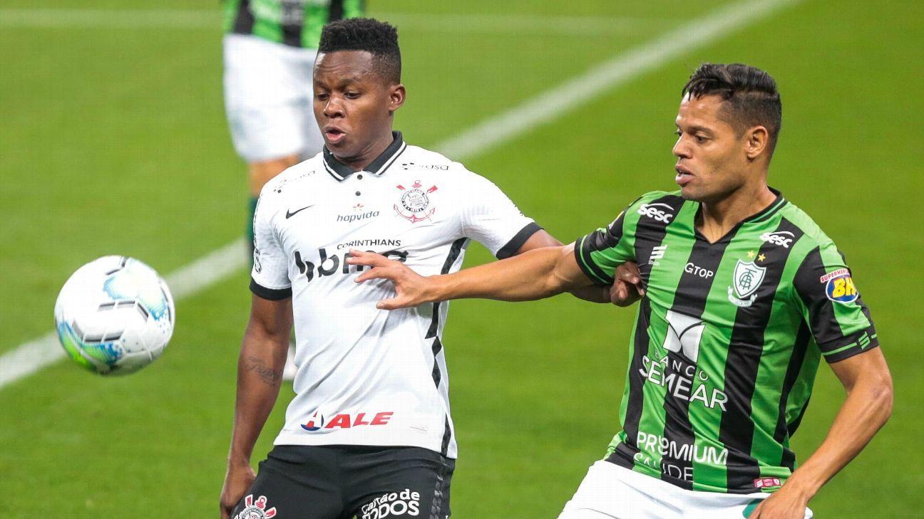Marcelo Toscano entra no fim, marca e dá vantagem ao América-MG contra o  Corinthians na Copa do Brasil