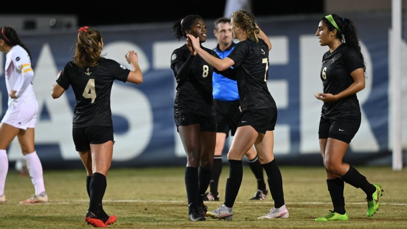 Hopkins' two goals power Commodores past Aggies