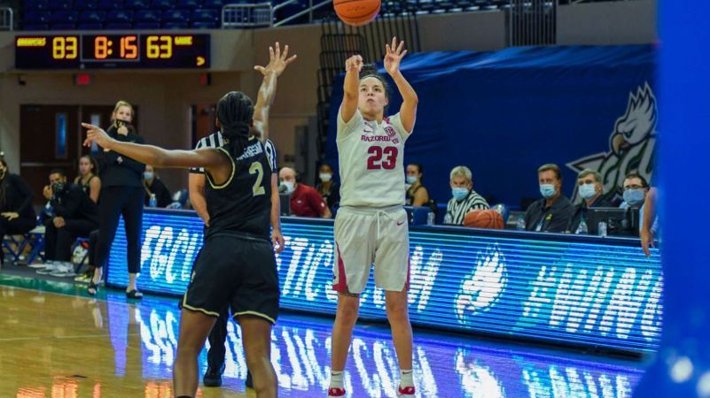 Second-half surge pushes Razorbacks past Demon Deacons