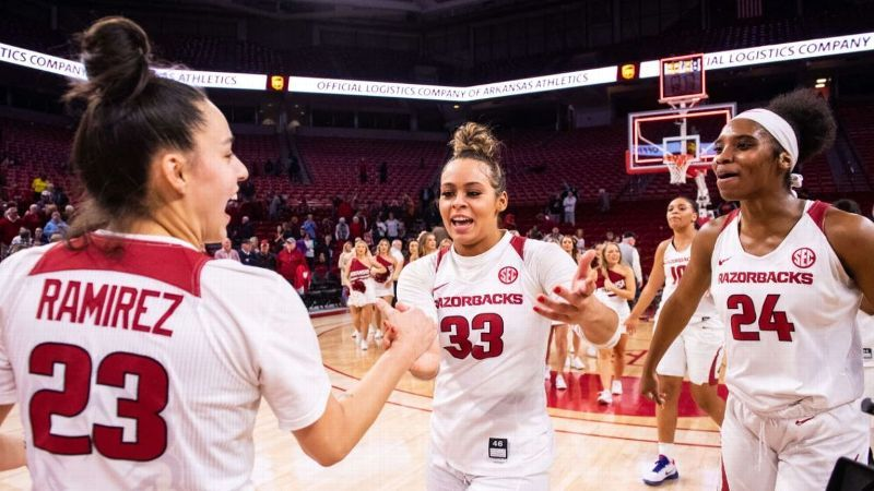 No. 14 Arkansas remains unbeaten after nipping FGCU