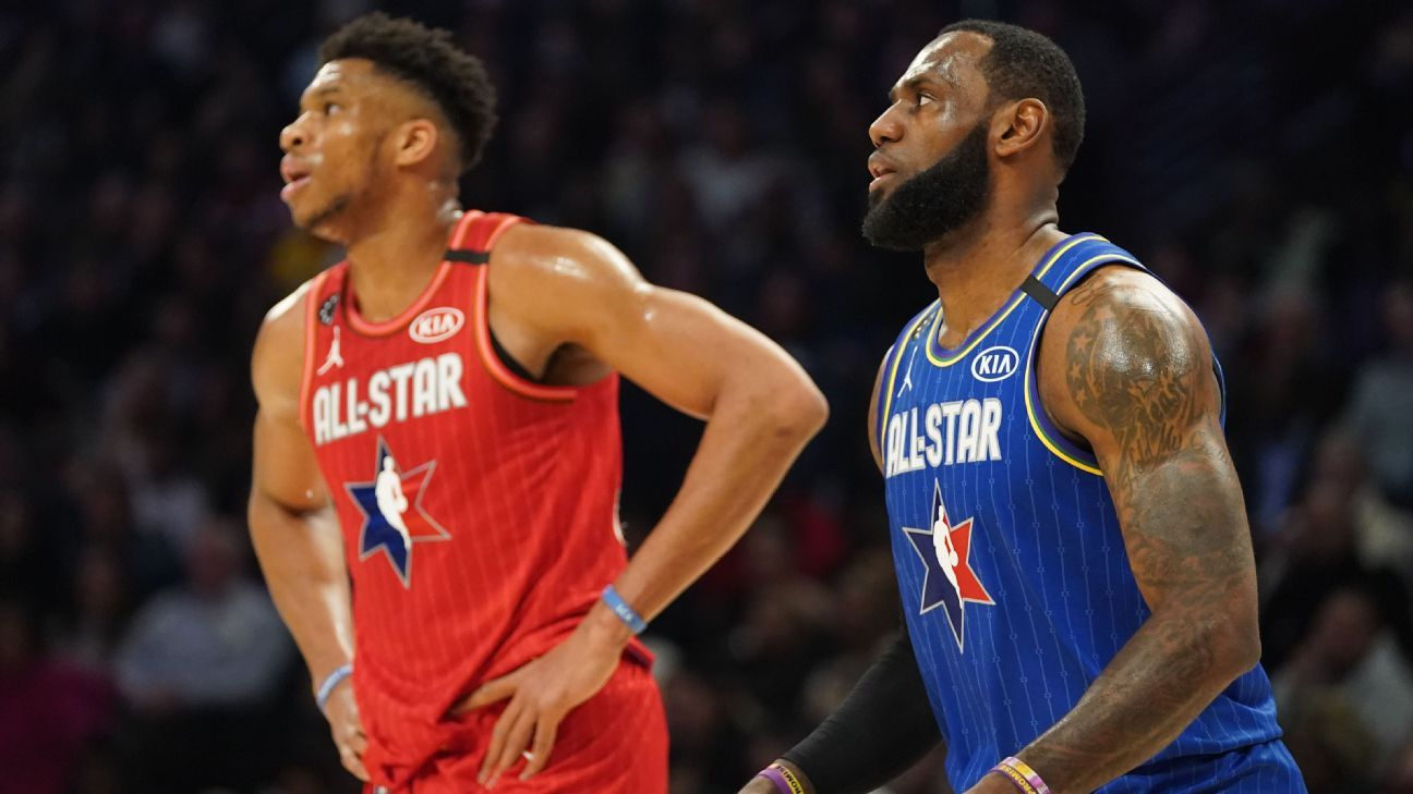 LeBron James takes Giannis Antetokounmpo first in 2021 NBA All-Star draft;  Utah Jazz stars go last