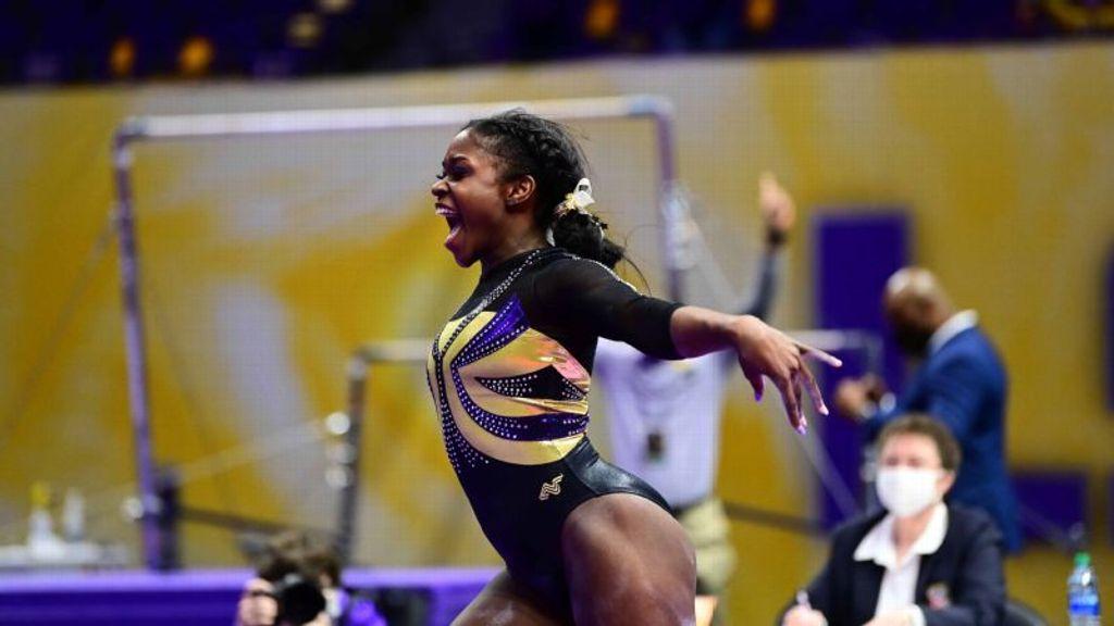 Johnson's Ten Seals Gymnastics Win Over Arkansas