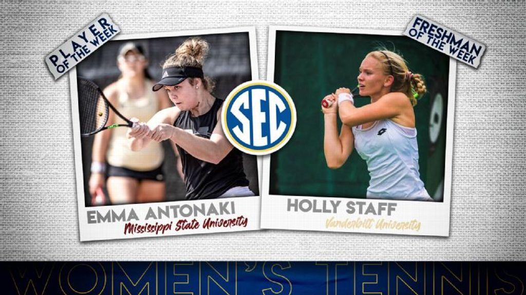 SEC Women's Tennis Weekly Honors