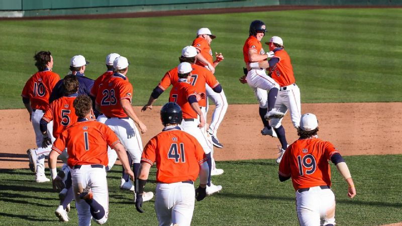 Peirce's walk-off lifts Auburn to sweep of Presbyterian