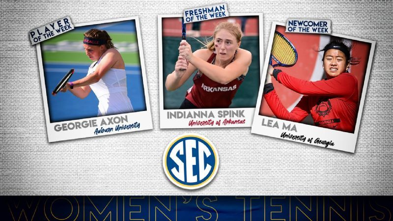 SEC Women's Tennis Weekly Honors