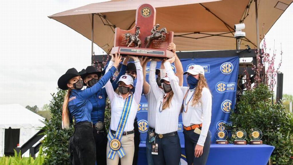 No. 1 Auburn Equestrian wins third-straight SEC title