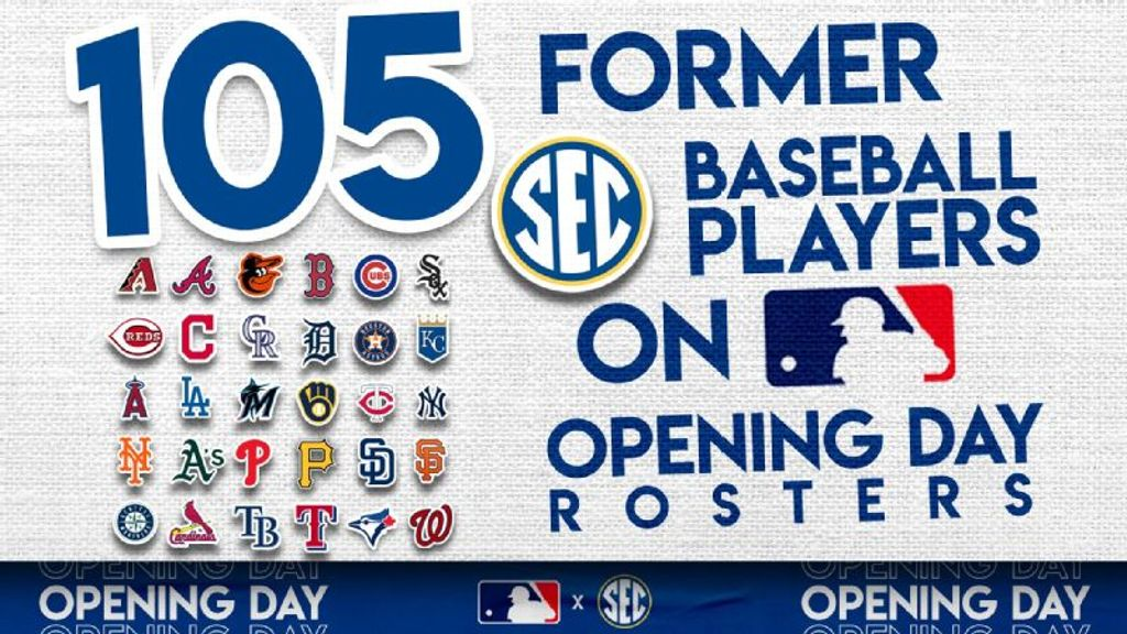 More than 100 former SEC players on MLB rosters