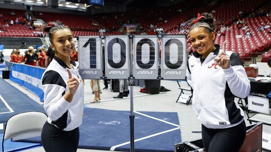 Alabama advances in NCAA Regionals with two Perfect 10s