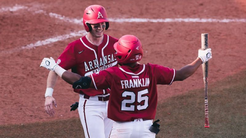 No. 2 Arkansas outslugs No. 3 Ole Miss to take series