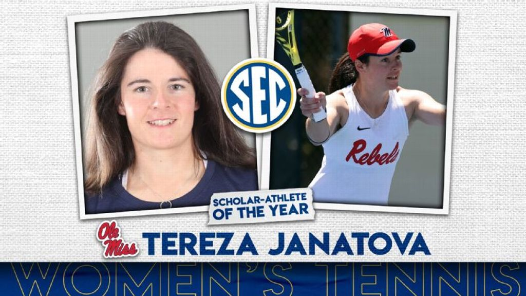 Janatova named Women's Tennis Scholar-Athlete of the Year