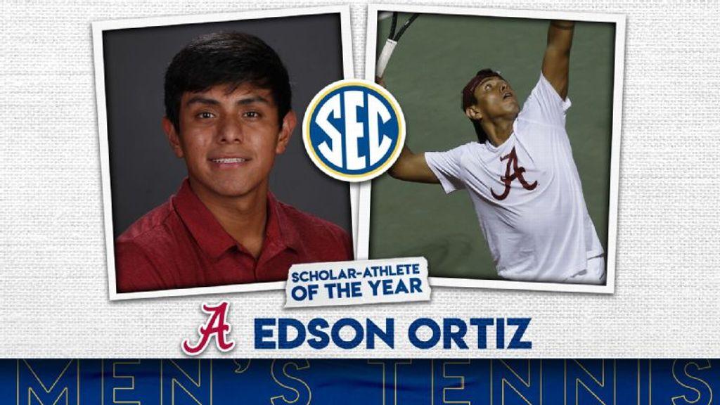 Ortiz named SEC Men's Tennis Scholar-Athlete of the Year