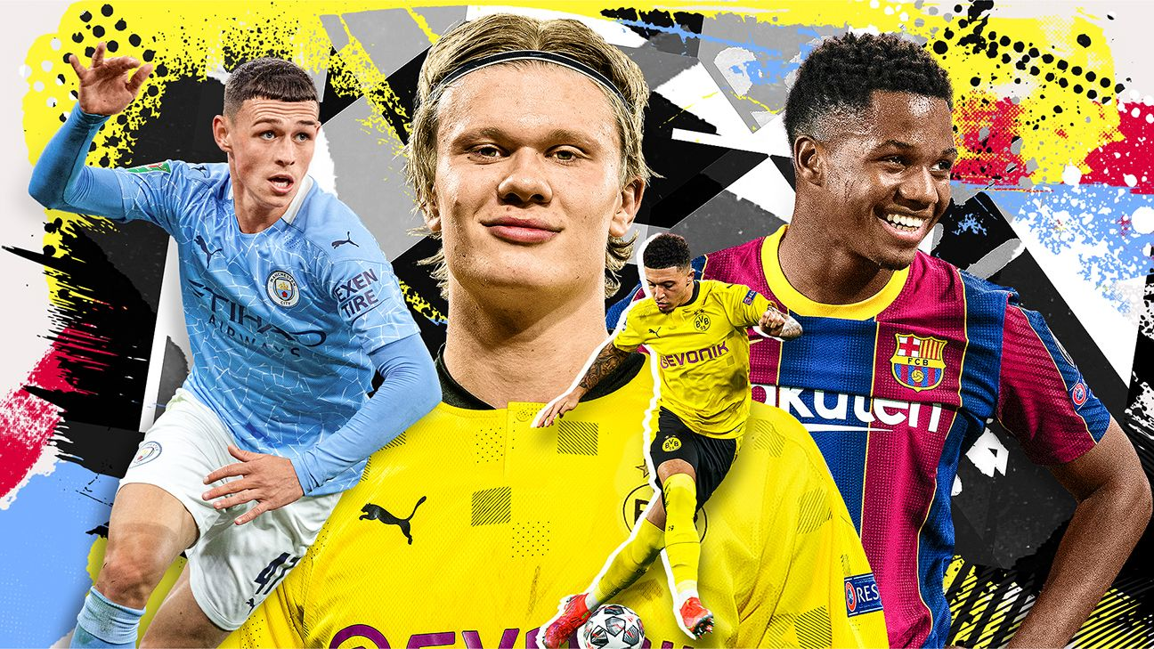 Who are soccer's 39 best players age 21 or under?