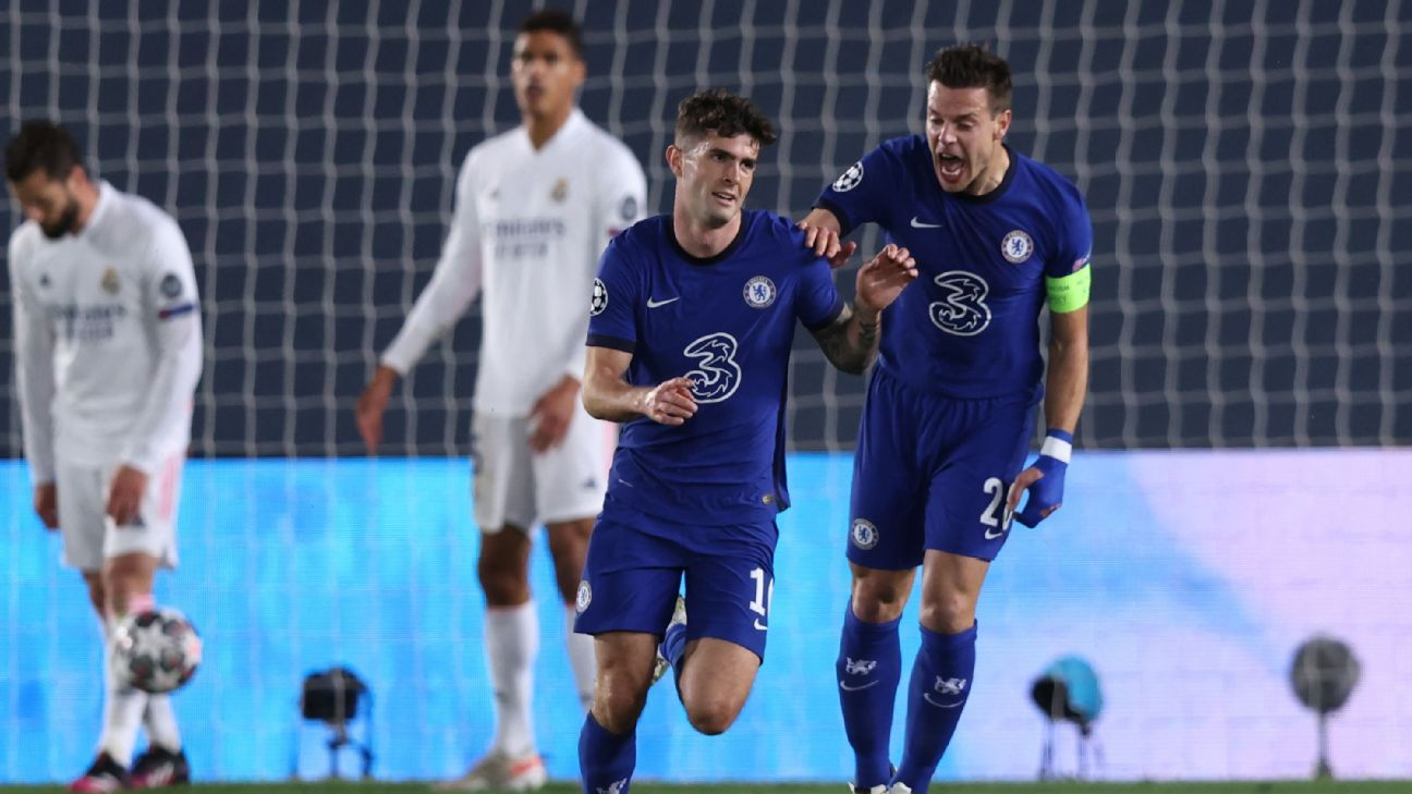 Chelsea and Pulisic fail to beat Real Madrid, despite work ethic, guile and class