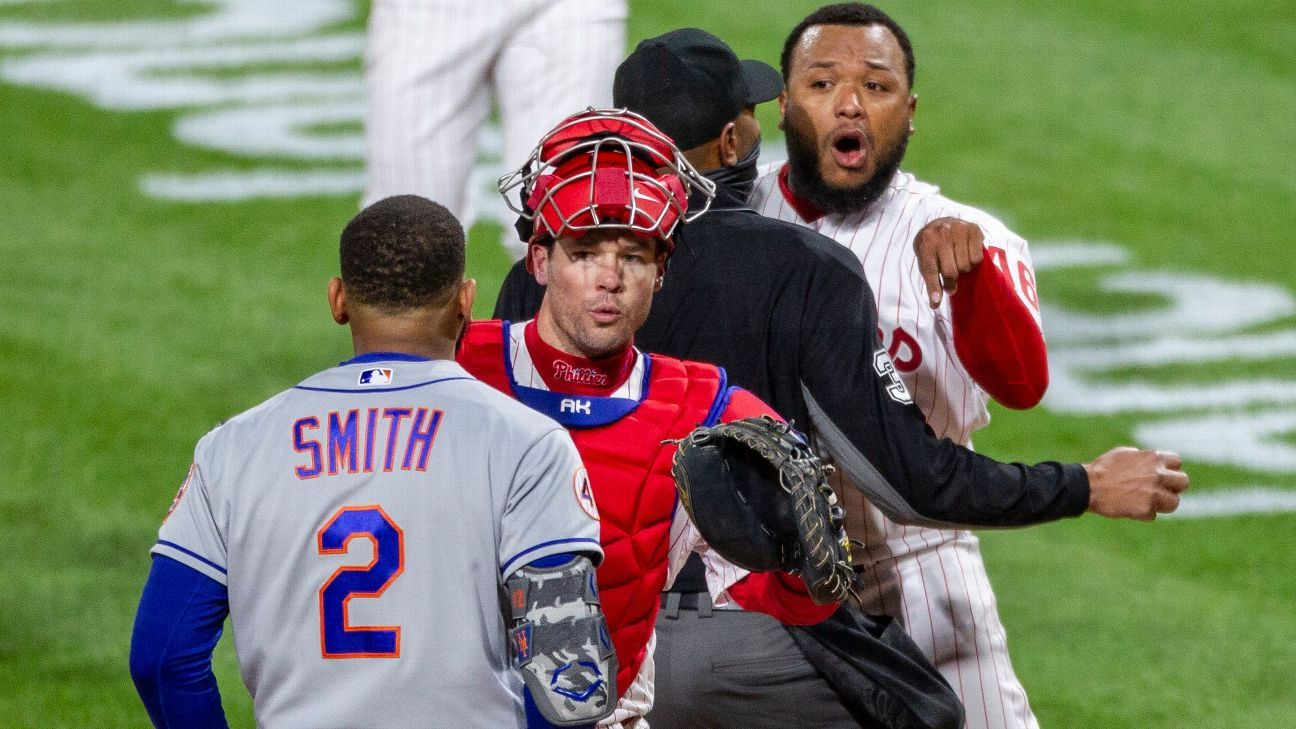 Mets' Smith calls out Phils' reliever after dustup