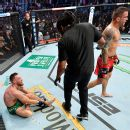 R879007 1296X1296 1 1 Dustin Poirier Wins Trilogy Rematch By Tko After Conor Mcgregor Injures Leg In Round 1