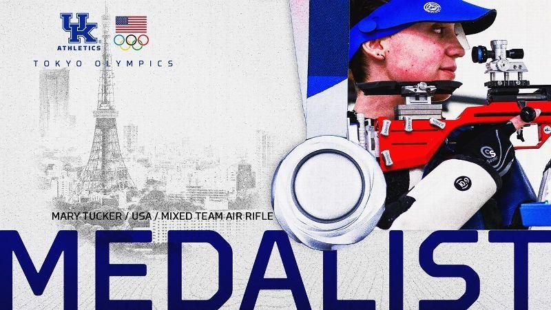 Kentucky's Tucker Wins Silver in Air Rifle Mixed Team
