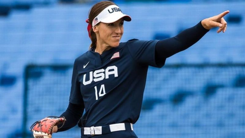 Abbott leads USA softball to silver medal