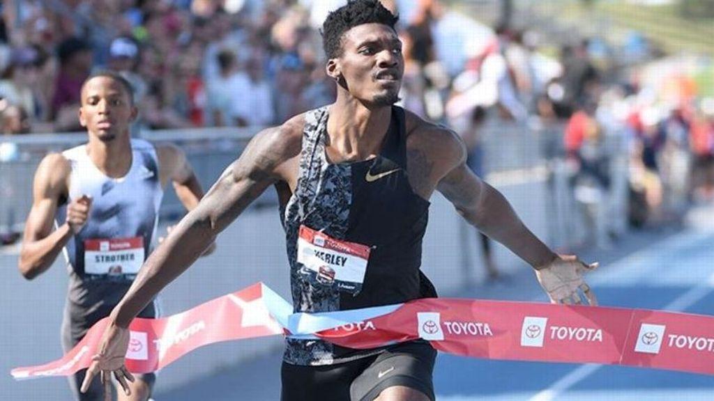 Aggies' Kerley earns 100m Olympic silver medal