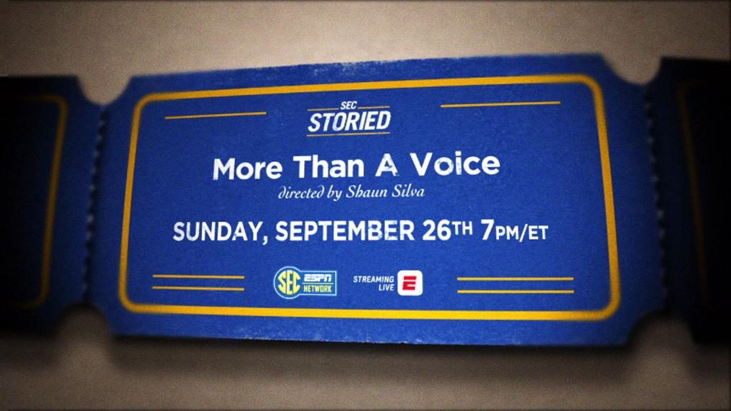 SEC Storied film 'More Than a Voice' premieres Sept. 26