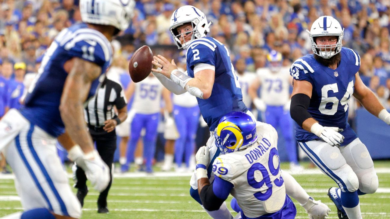 <div>With Carson Wentz injured, it's fair to question Colts' QB depth</div>