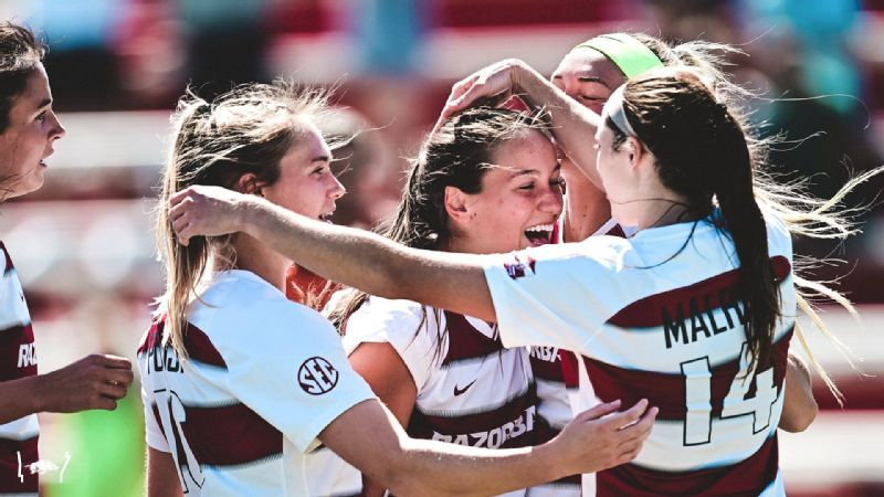 No. 16 Arkansas comes from behind to defeat Rebels, 4-1