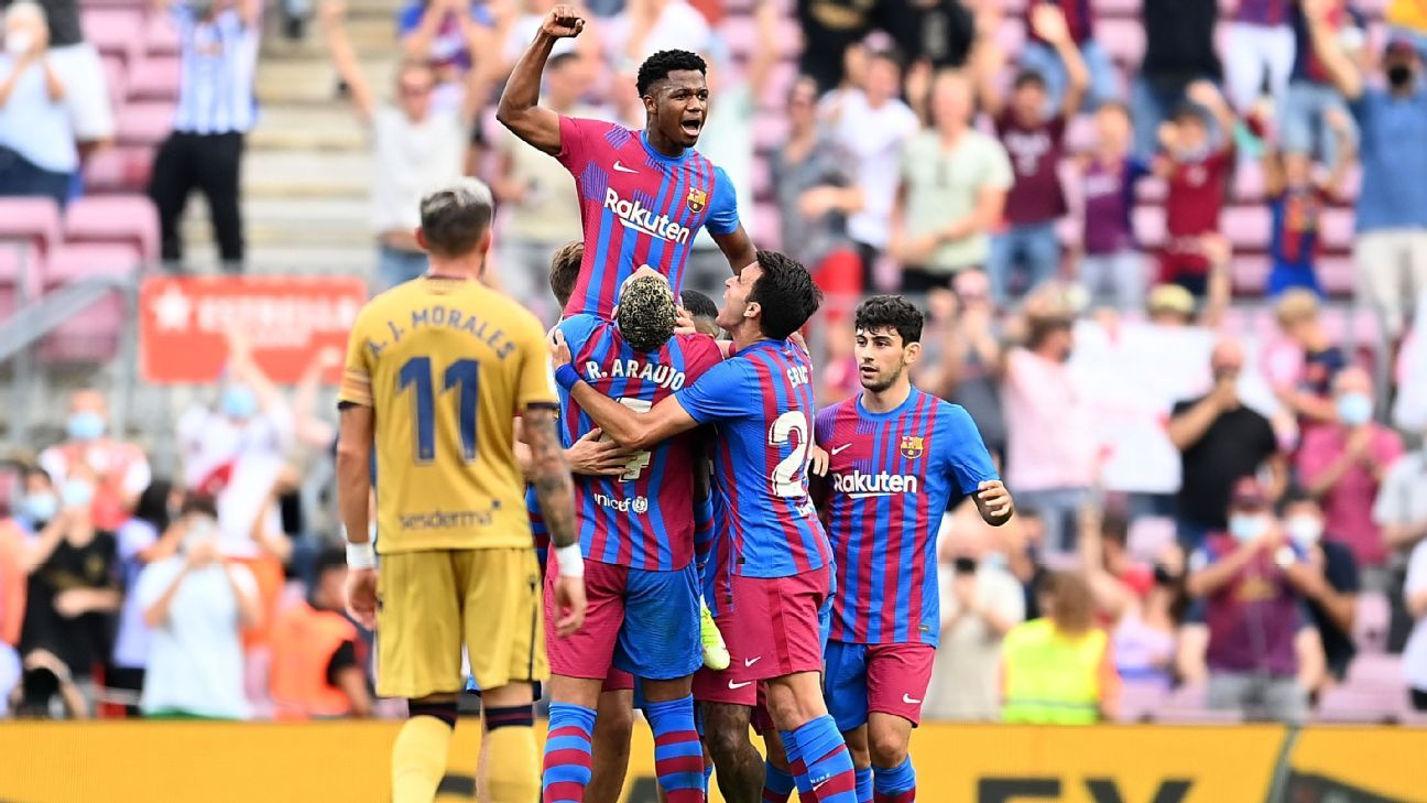 Prodigious Ansu and Gavi give Barca hope of a brighter future