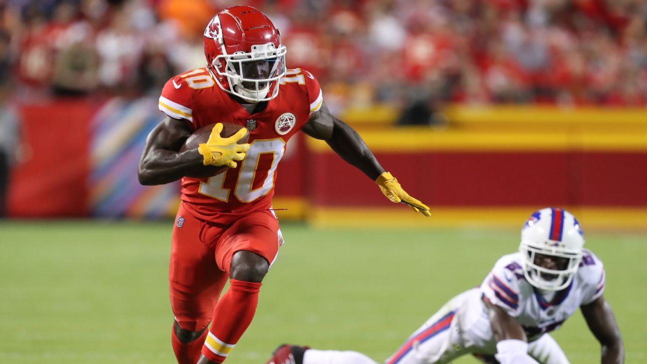 <div>Chiefs' Hill expected to play vs. WFT, source says</div>