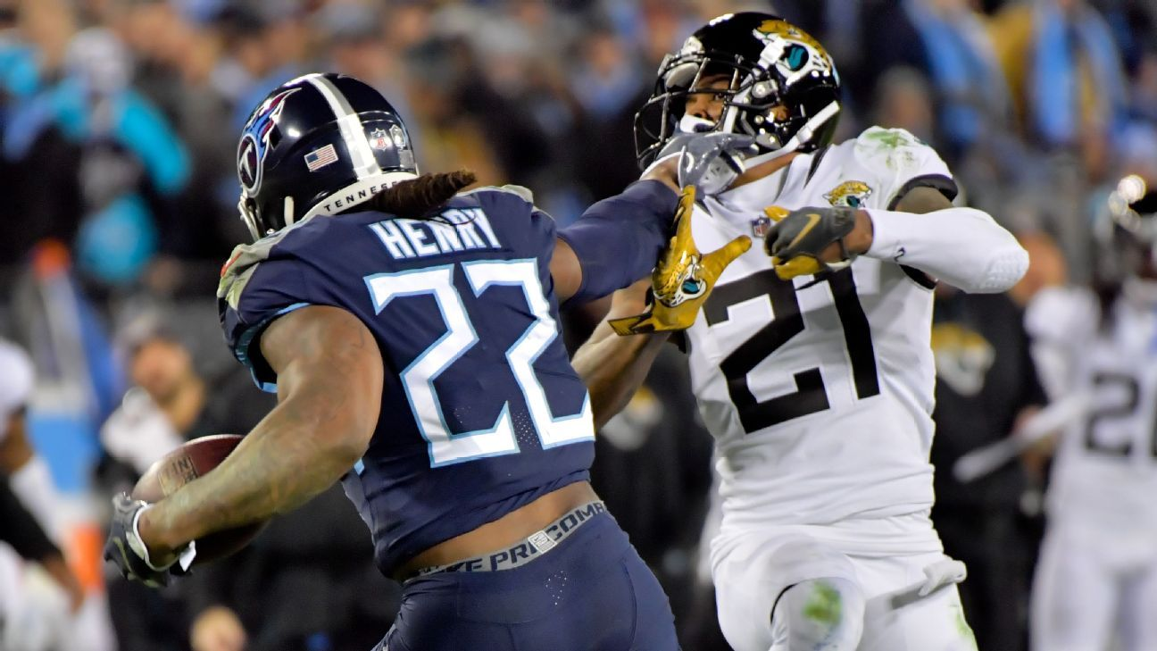 <div>What Titans' Derrick Henry has to do to break the all-time rushing record</div>