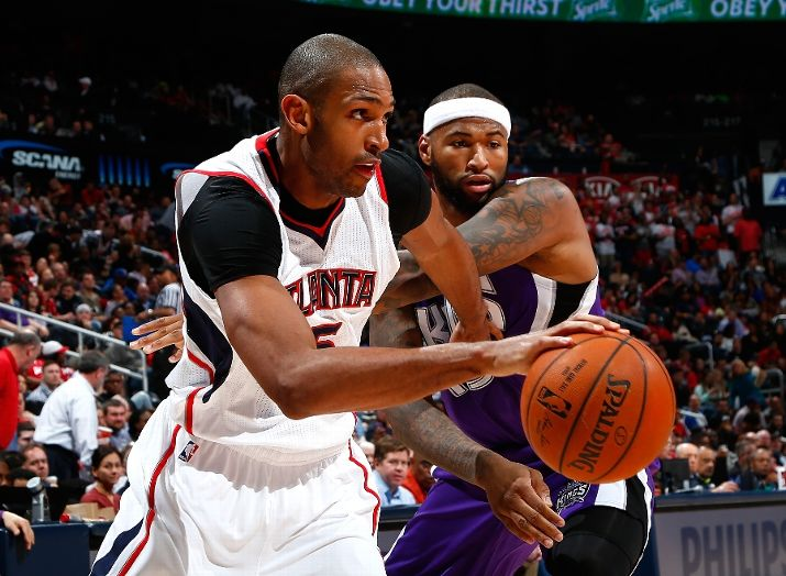Al Horford and DeMarcus Cousins