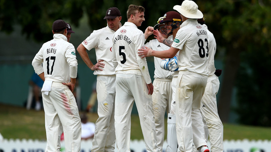 Surrey restrict MCC to 265 on day one of clash in Dubai