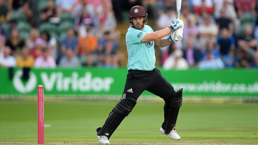 Unbeaten ton to Aaron Finch leads Surrey to victrory over Somerset