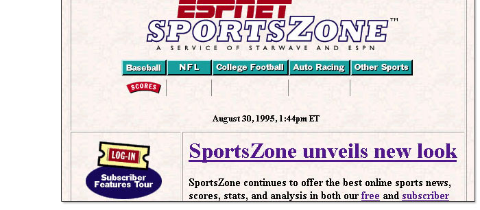 Reflecting On 10 Years Of Espn Com 1995