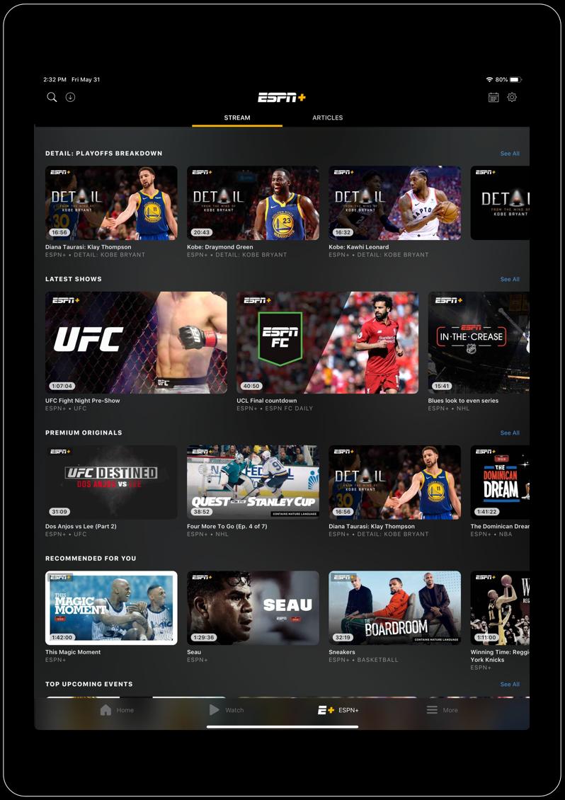 ESPN App - Download on iOS App Store & Google Play
