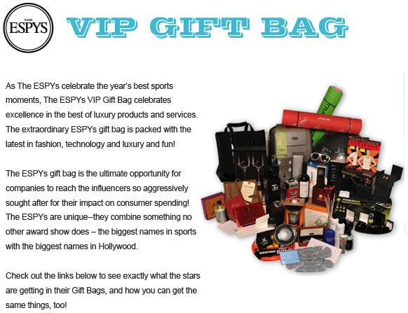 2010 ESPY Giftbag
