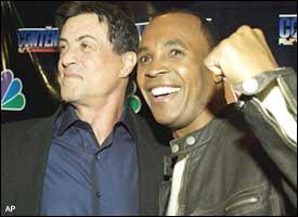 Sylvester Stallone and Sugar Ray Leonard