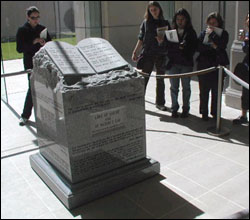 Ten Commandments monument