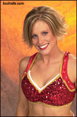 Chiefs cheerleader Kim