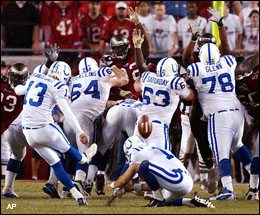 Colts winning kick