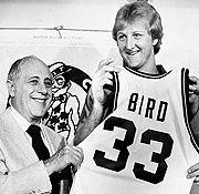 Red Auerbach, Larry Bird