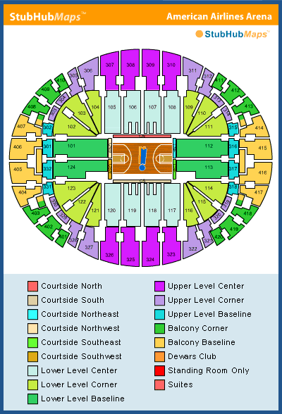 americanairlines arena seating chart, pictures, directions