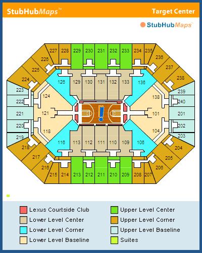 Target center seating chart rows nba basketball arenas minnesota
