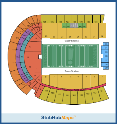 darrell k royal stadium chart: Darrell k royal memorial stadium seating chart memorial stadium