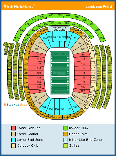 Green bay packer seating chart green bay packers tickets 2017