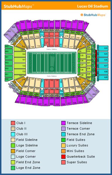 Lucas Oil Stadium Mapa Asientos Imagenes Direcciones Y