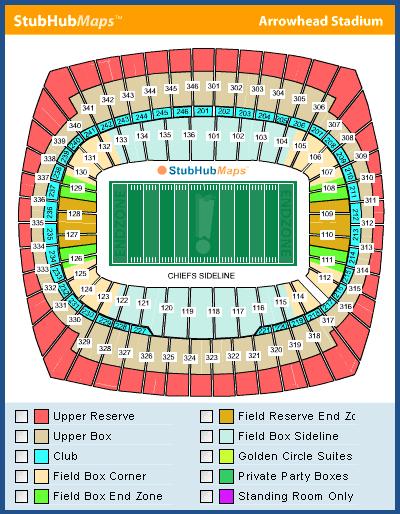 Arrowhead Stadium Mapa asientos, Imagenes, Direcciones, y Historia on map history, map sam houston state university, map nfl, map university of phoenix stadium,